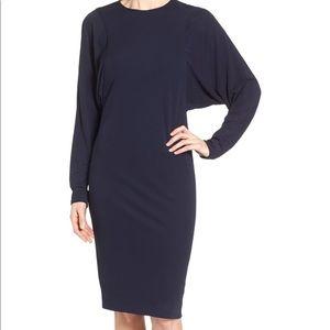 Pink Tartan | Dolman Sleeve Sheath Dress